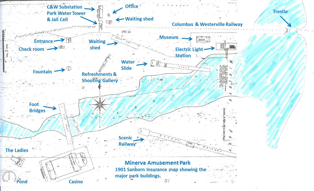 Columbus Railroads - State check off map